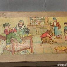 Puzzles: ANTIGUO ROMPE CABEZAS DE CUBOS EN CAJA MADERA Y CARTON. Lote 262947530