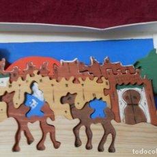 Puzzles: DOS PUZZLE DE MADERA CON CAMELLOS, PALMERAS Y CASAS ARABES.. Lote 263235465