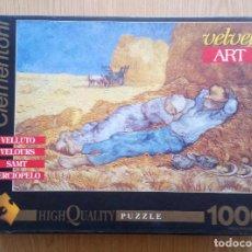 Puzzles: PUZLE 1000 PZAS EFECTO TERCIOPELO - LA SIESTA, VAN GOGH -VELVET ART HIGH QUALITY PUZZLE CLEMENTONI.. Lote 265822644