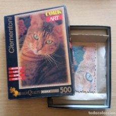 Puzzles: PUZLE GATO DE CORCHO 500 PZAS - SERIE CORK ART HIGH QUALITY PUZZLE CLEMENTONI.. Lote 265819964