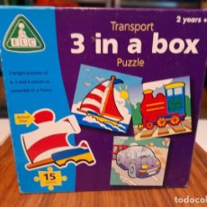 Puzzles: PUZZLE TRANSPORT : 3 IN A BOX. Lote 266392263