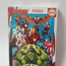 Puzzles: PUZZLE AVENGERS 200 PIEZAS, NUEVO A DESPRECINTAR. Lote 266484948