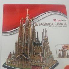 Puzzles: CUBICFUN PUZZLE 3D - LA SAGRADA FAMILIA - BARCELONA. Lote 269001634