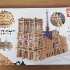Puzzles: PUZZLE 3D NOTRE-DAME DE PARIS EN MADERA DE 148 PIEZAS DE EDUCA BORRAS. Lote 274937523
