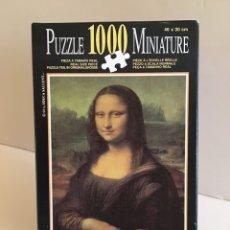 Puzzles: PUZZLE MINIATURE LA GIOCONDA 1000 PIEZAS EDUCA. ¡DESCATALOGADO!. Lote 275195828