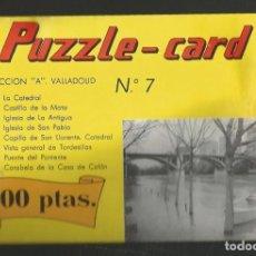 Puzzles: PUZZLE CARD COLECCION A VALLADOLID Nº7 PUENTE DEL PONIENTE. Lote 276239448