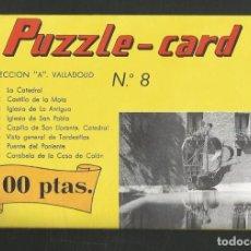 Puzzles: PUZZLE CARD COLECCION A VALLADOLID Nº8 CARABELA DE LA CASA DE COLON. Lote 276239533
