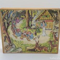 Puzzles: AMG-1093 PUZZLE CUBOS DE MADERA BLANCANIEVES Y 7 ENANITOS. Lote 286512478