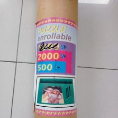 Puzzles: ROLLO PARA GUARDAR PUZZLES DE 500 A 2000 PIEZAS ENROLLABLE + TELA Y GOMAS. Lote 288686363
