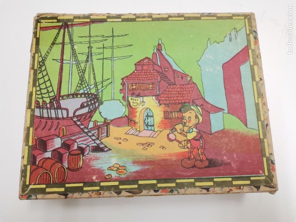 PUZZLE DE PINOCHO.CUBOS DE CARTON, GRAFICAS HAMBURG, BARCELONA. (Juguetes - Juegos - Puzles)