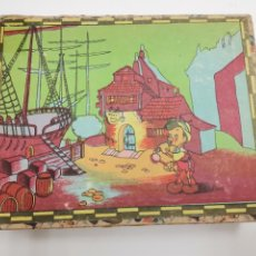 Puzzles: PUZZLE DE PINOCHO.CUBOS DE CARTON, GRAFICAS HAMBURG, BARCELONA.. Lote 289293813