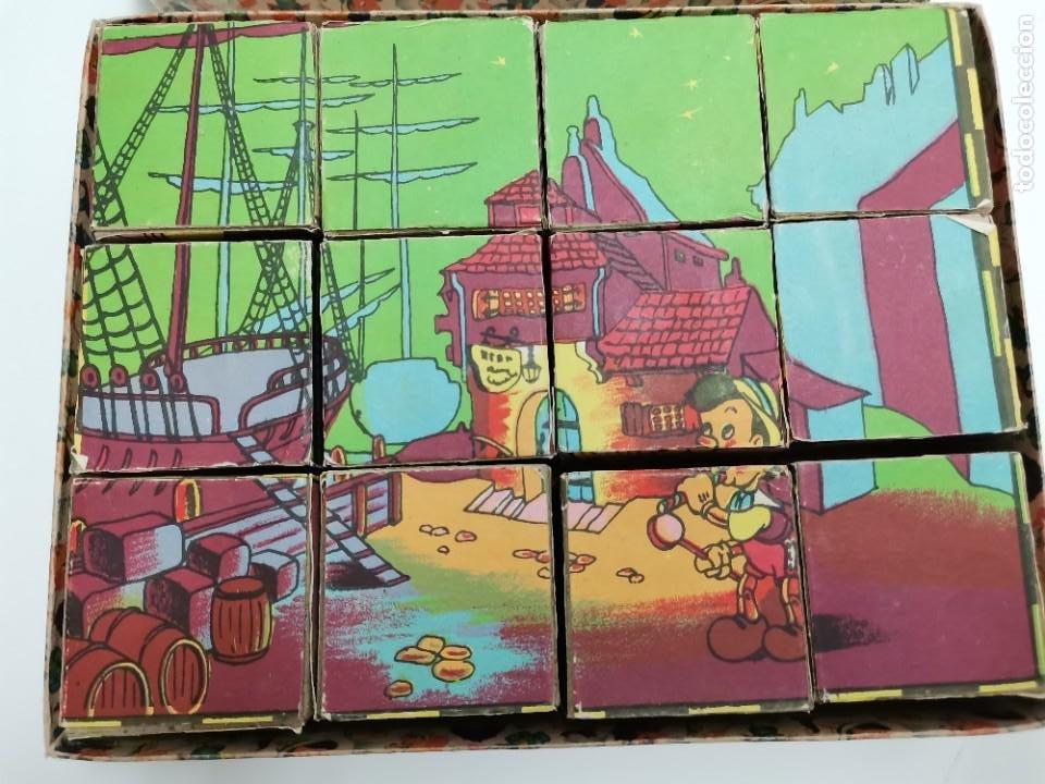 Puzzles: PUZZLE DE PINOCHO.CUBOS DE CARTON, GRAFICAS HAMBURG, BARCELONA. - Foto 2 - 289293813