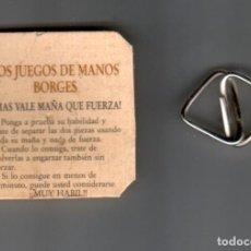 Puzzles: LOS JUEGOS DE MANOS DE BORGES - JUEGO PUZZLE, PUBLICITARIO BORGES. Lote 294832023