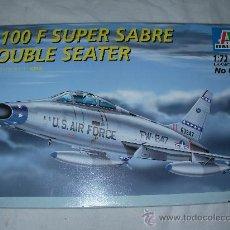 Radio Control: F-100 F SUPER SABRE DOUBLE SEATER DE ITALERI. Lote 27911384