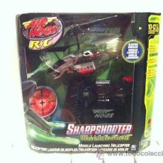 Radio Control: HELICOPTERO CONTROL REMOTO AIR HOGS SHARPSHOOTER MOD. BLACK/RED - NUEVO. Lote 34465134
