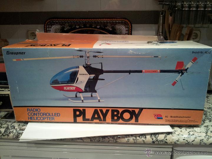 HELICOPTERO PLAY BOY RADIO CONTROL MOTOR GASOLINA REPUESTOS Y PIEZAS VER FOTOS (Juguetes - Modelismo y Radiocontrol - Radiocontrol - Aviones y Helicópteros)