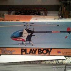 Radio Control: HELICOPTERO PLAY BOY RADIO CONTROL MOTOR GASOLINA REPUESTOS Y PIEZAS VER FOTOS. Lote 51110418