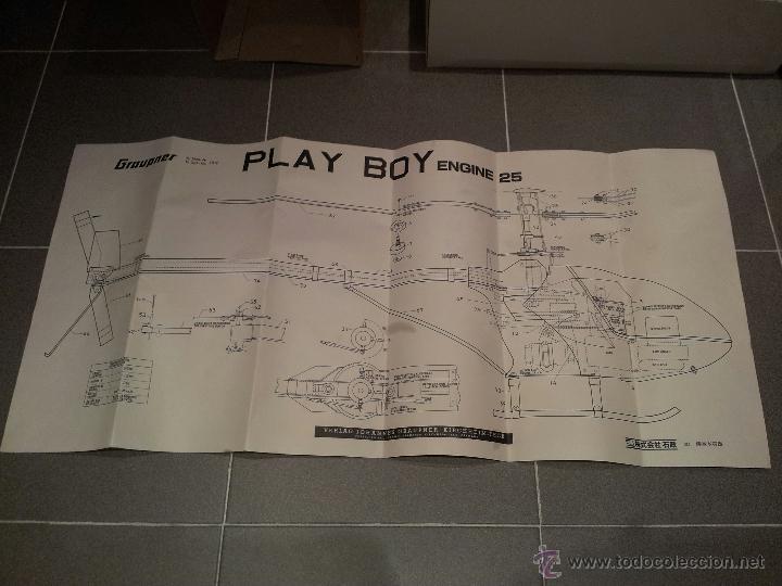 Radio Control: helicoptero play boy radio control motor gasolina repuestos y piezas ver fotos - Foto 9 - 51110418