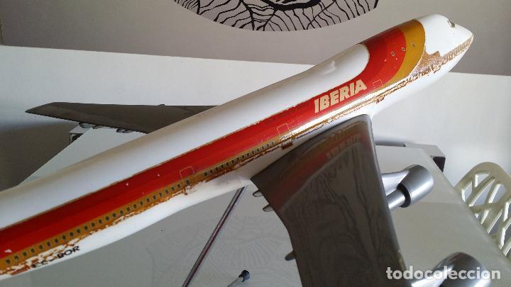Radio Control: ANTIGUO AVIÓN DE AGENCIA DE VIAJES BOEING 747 IBERIA ESCALA 1/100 - Foto 3 - 189105390