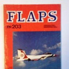 Radio Control: FLAPS Nº 203 (1977) AERONAÚTICA-ASTRONAÚTICA-AEROMODELISMO MATRA-FAIRCHILD A-10-ALAS DANESAS. Lote 82254700