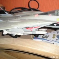 Radio Control: AVIÓN CAZABOMBARDERO F14A US KITTY HAWK CABLE DIRIGIDO.NEW BRIGHT 1990. GRAN ESCALA.. Lote 103153799