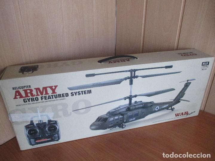 Radio Control: HELICOPTERO MILITAR U1 RC UH-60 - GIRO HELICOPTER REMOTE CONTROL - Foto 2 - 112974872