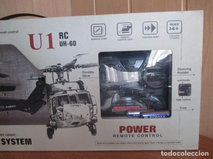 Radio Control: HELICOPTERO MILITAR U1 RC UH-60 - GIRO HELICOPTER REMOTE CONTROL - Foto 5 - 112974872
