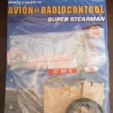 Radiocommande: BJS. MONTA Y PILOTA. AVION DE RADIOCONTROL. SUPER STEARMAN, ALTAYA. NUMERO 4. COMPLETA TU COLECCION. Lote 114581699