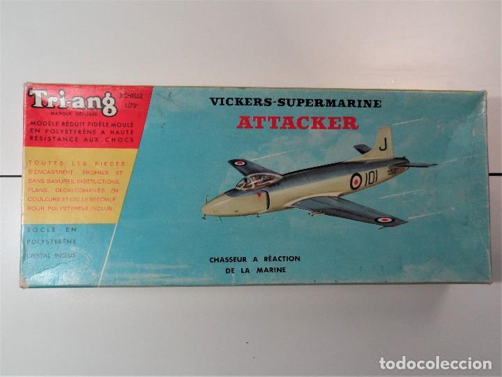 AVIÓN VICKERS-SUPERMARINE ATTACKER, MARCA TRIANG, ESCALA 1/72 (Juguetes - Modelismo y Radiocontrol - Radiocontrol - Aviones y Helicópteros)