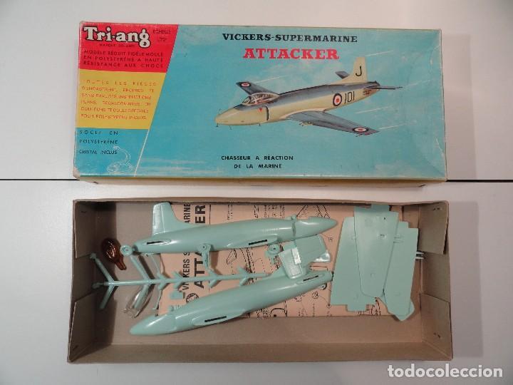 Radio Control: Avión VICKERS-SUPERMARINE ATTACKER, marca Triang, escala 1/72 - Foto 2 - 116959623