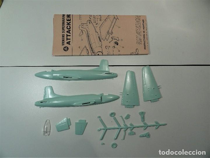 Radio Control: Avión VICKERS-SUPERMARINE ATTACKER, marca Triang, escala 1/72 - Foto 3 - 116959623