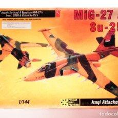 Radio Control: MAQUETA MIG-27+SU-25 IRAQI ATTACKERS - NUEVO. Lote 117179235