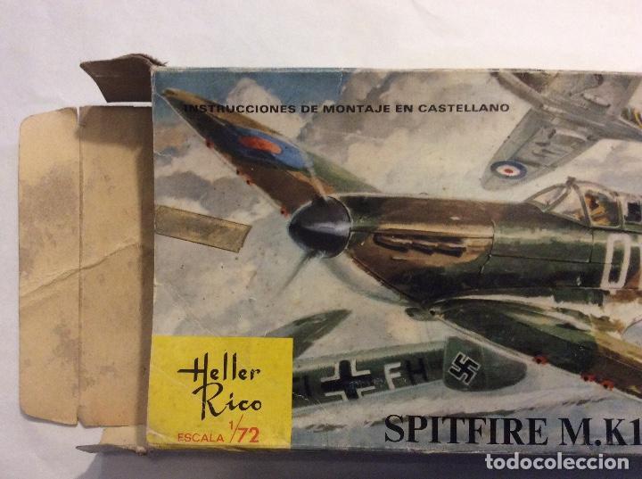 Radio Control: Envío 8€. Spitfire M.K1 de Heller Rico escala 1/72 con su caja original.... - Foto 3 - 121893091