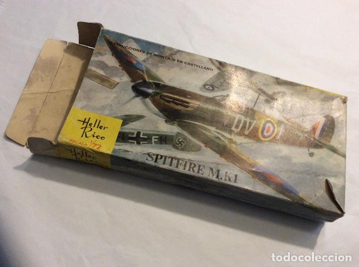 Radio Control: Envío 8€. Spitfire M.K1 de Heller Rico escala 1/72 con su caja original.... - Foto 6 - 121893091