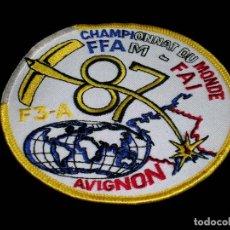 Radio Control: RARO ESCUDO EN TELA FÉDÉRATION FRANÇAISE D´AÉROMODÉLISME FFAM-FAI CHAMPIONNAT DU MONDE 1987 AVIGNON.. Lote 122200899