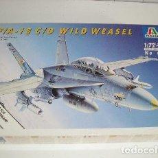 Radio Control: F/A-18 C/D WILD WEASEL MAQUETA AVION ESCALA 1/72 ITALERI - NUEVA A ESTRENAR. Lote 122293675