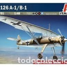 Radio Control: MAQUETA 1/48 - HS 126A-1/B-1 ITALERI - NR. 2701 - 1:48. Lote 122912651