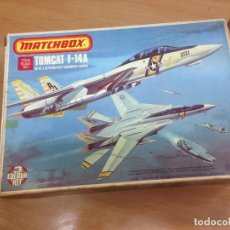 Radio Control: MAQUETA NUNCA MONTADA AVION F-14 A TOMCAT ESCALA 1/72 DE MATCHBOX 1976. Lote 126000139