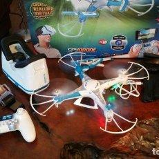 Radio Control: DRON SPYDRONE - VIDEO FOTO - GAFAS REALIDAD VIRTUAL - ESTABILIZADOR -AUTO DESPEGUE ATERRIZAGE. Lote 150085346