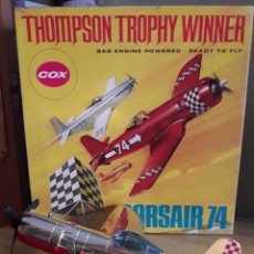 Radio Control: AVIÓN CORSAIR 74 THOMPSON TROPHY WINNER COX MADE IN USA. Lote 156869988