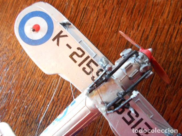 Radio Control: AVIÓN CAZA Bristol Bulldog Británico Modelo Diecast avión de combate K2159 1:72 USADO, PLOMO - Foto 9 - 157789218