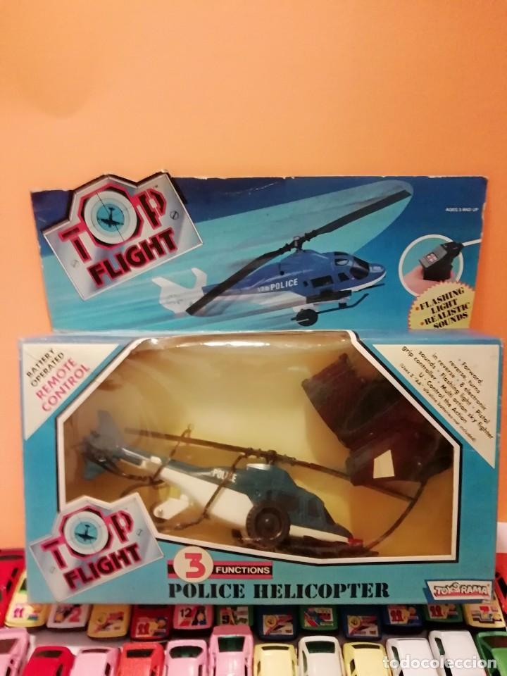 TOP FLIGHT... TRES FUNCIONES... POLICE HELICOPTER... CONTROL REMOTO=TOY RAMA... (Juguetes - Modelismo y Radiocontrol - Radiocontrol - Aviones y Helicópteros)
