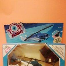 Radio Control: TOP FLIGHT... TRES FUNCIONES... POLICE HELICOPTER... CONTROL REMOTO=TOY RAMA.... Lote 161706438