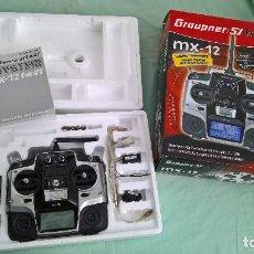 Radio Control: EMISORA DE RADIOCONTROL GRAUPNER MX-12 , A ESTRENAR , SIN USO.. Lote 164074578