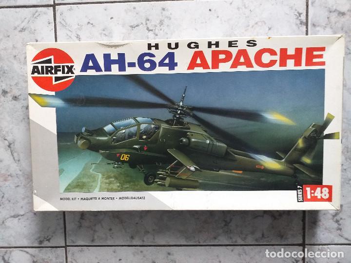 MAQUETA DE MONTAJE. HELICÓPTERO AH-64 APACHE HUGHES 1/48 DE AIRFIX 1992 FRANCE (Juguetes - Modelismo y Radiocontrol - Radiocontrol - Aviones y Helicópteros)