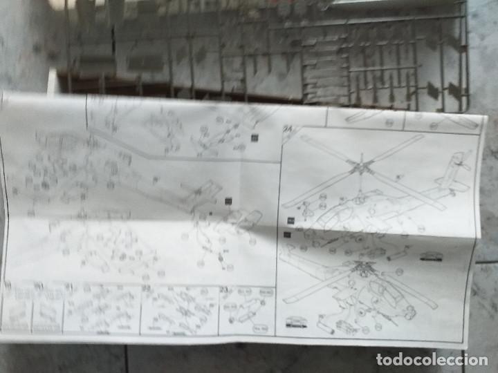 Radio Control: MAQUETA DE MONTAJE. HELICÓPTERO AH-64 APACHE HUGHES 1/48 DE AIRFIX 1992 FRANCE - Foto 3 - 167613264