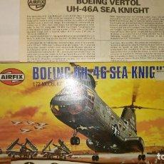 Radio Control: ~~~~ AIRFIX, BOEING UH 46 SEA KNIGHT, SIN MONTAR, ESCALA 1/72, AÑOS 70. ~~~~. Lote 167635752