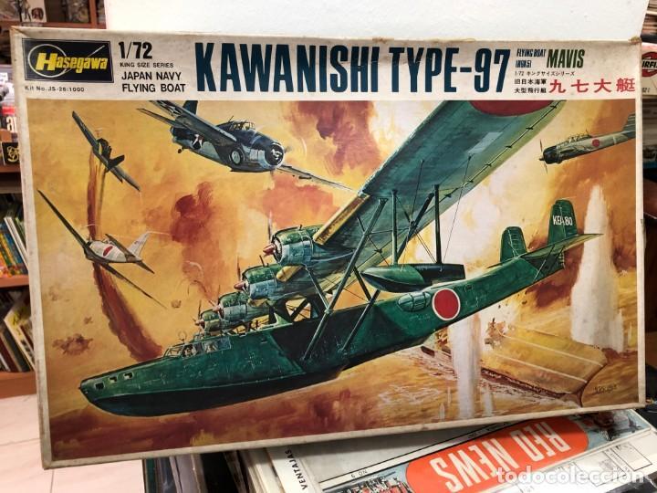 MAQUETA SIN MOTAR CON INSTRUCCIONES Y PEGATINAS KAWANISHI TYPE-97 ESCALA 1/72 HASEGAWA (Juguetes - Modelismo y Radiocontrol - Radiocontrol - Aviones y Helicópteros)