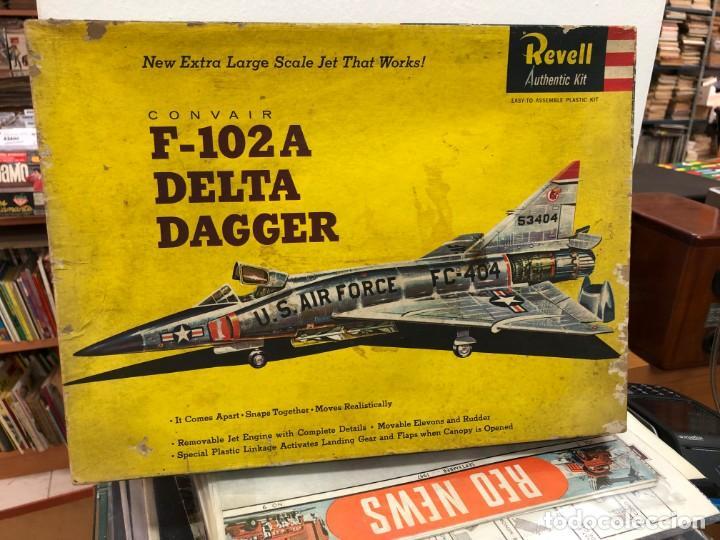 MAQUETA SIN MOTAR CON INSTRUCCIONES Y PEGATINAS AVION F-102A DELTA DAGGER FABRICADO POR REVELL (Juguetes - Modelismo y Radiocontrol - Radiocontrol - Aviones y Helicópteros)