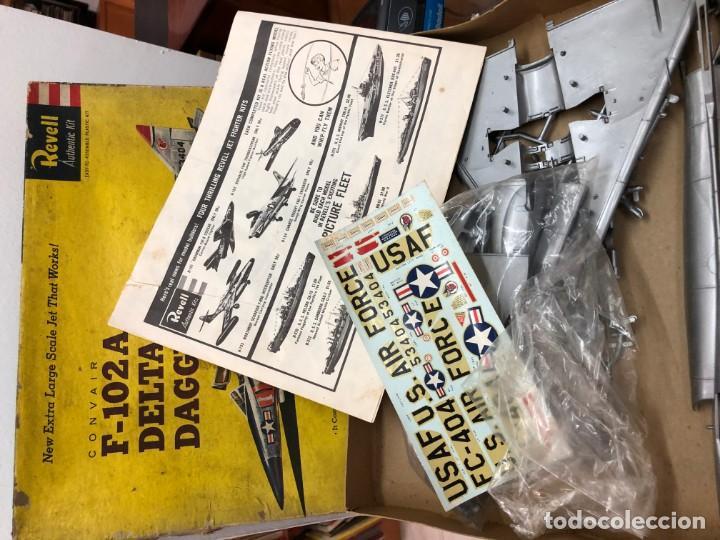 Radio Control: MAQUETA SIN MOTAR CON INSTRUCCIONES Y PEGATINAS AVION F-102A DELTA DAGGER FABRICADO POR REVELL - Foto 2 - 171610605